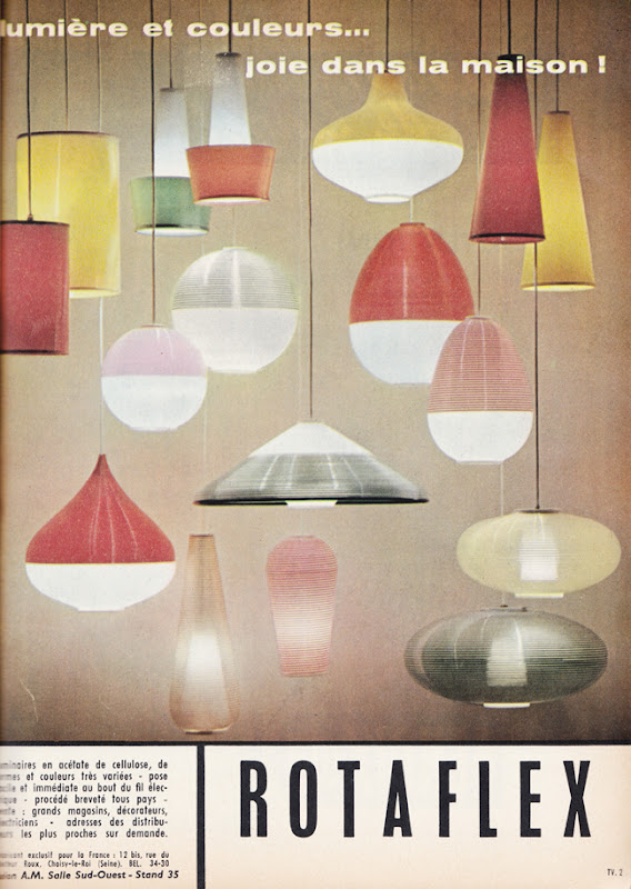 Publicité vintage : ROTAFLEX : Lumière et couleurs ... joie dans la maison ! - Pour vous Madame, pour vous Monsieur, des publicités, illustrations et rédactionnels choisis avec amour dans des publications des années 50, 60 et 70. Popcards Factory vous offre des divertissements de qualité. Vous pouvez également nous retrouver sur www.popcards.fr et www.filmfix.fr   - For you Madame, for you Sir, advertising, illustrations and editorials lovingly selected in publications from the fourties, the sixties and the seventies. Popcards Factory offers quality entertainment. You may also find us on www.popcards.fr and www.filmfix.fr