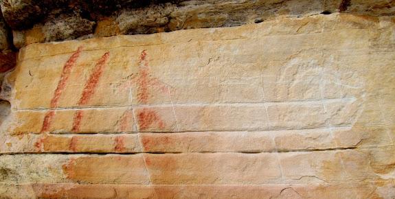 Painted petroglyphs