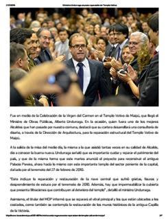 17-07-2014Ministro Undurraga anuncia reparación de Templo Votivo