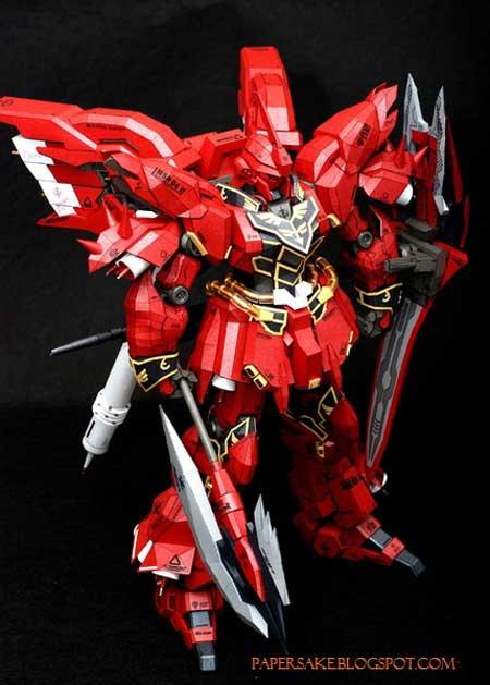Sinanju Gundam Papercraft