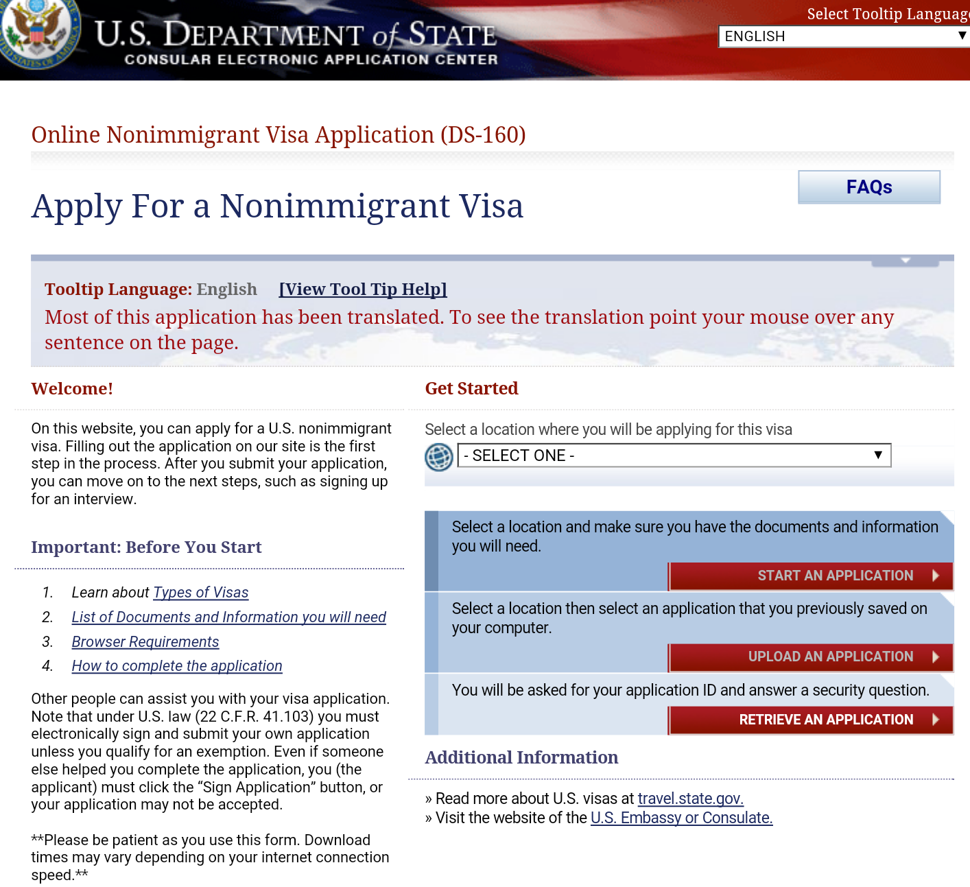 how to pay for us visa