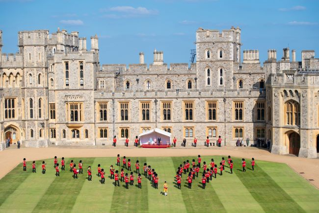 Previously Unseen Area of Windsor Castle Gardens Revealed - and It's Stunning