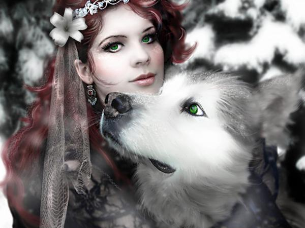 Wolf And Green Eyed Girl, Magic Beauties 3