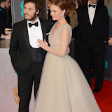 OIC - ENTSIMAGES.COM -  Sam Claflin and Laura Haddock at the EE British Academy Film Awards (BAFTAS) in London 8th February 2015 Photo Mobis Photos/OIC 0203 174 1069