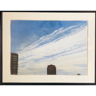 Pastel Large Scale Skyline Drawing