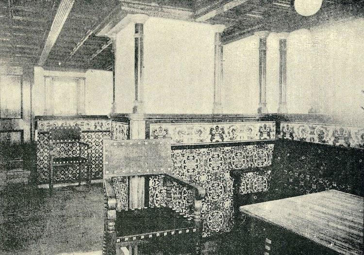 Salón del vapor ISLA DE MINDANAO. De la REVISTA DE NAVEGACION Y COMERCIO. Año 1898.jpg