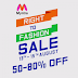 (Live Now) Myntra Right To Fashion Sale : Get Upto 80% off on Fashion Products (13th - 15th August)