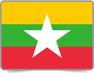 Burmese framed flag icons with box shadow