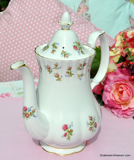 Winsome Pattern Vintage China Large Teapot