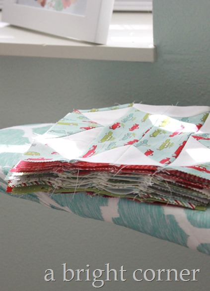 Chatterbox Christmas quilt using Holly's Tree Farm jelly roll