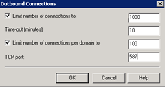 SMTP Delivery Outbound Connections