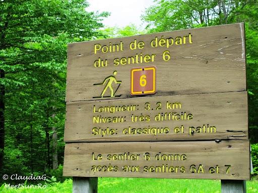 Tura la munte in Canada. Mont Orford.  indicatii pentru... iarna