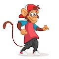 Cartoon Cool Monkey Free Download Vector CDR, AI, EPS and PNG Formats