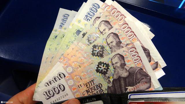 Icelandic currency in Reykjavik, Hofuoborgarsvaeoi, Iceland