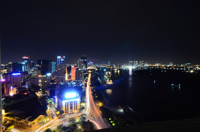 Saigon from the rooftop pool