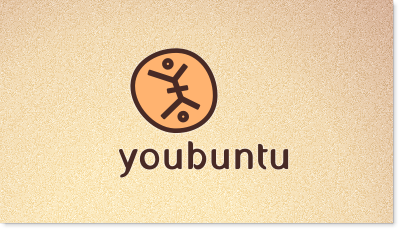 Youbuntu celebrates the human spirit and connects cultures by bringing distinctive, handcrafted goods created by skilled and passionate artisans in Africa to American consumers logo design