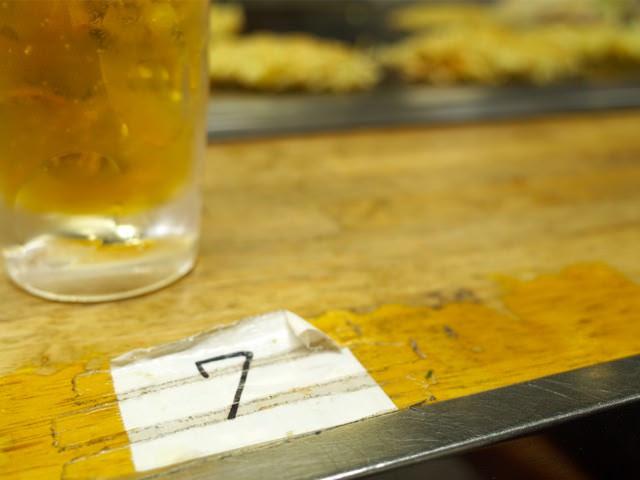 カウンターに書かれた番号
