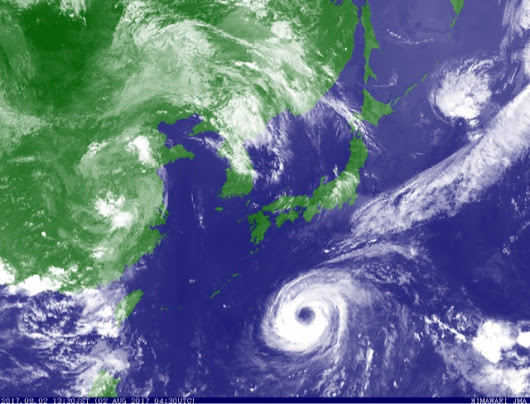 Southern Japan, South Korea In Trouble As Intensifying Typhoon NORU Comes