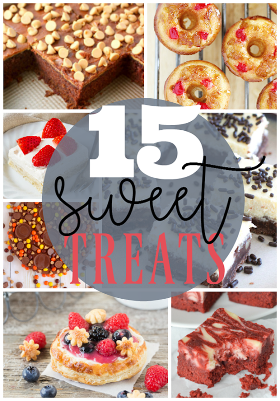 15 Sweet Treats at GingerSnapCrafts.com #sweets #recipes