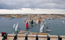Rolex Middle Sea race start and finish line