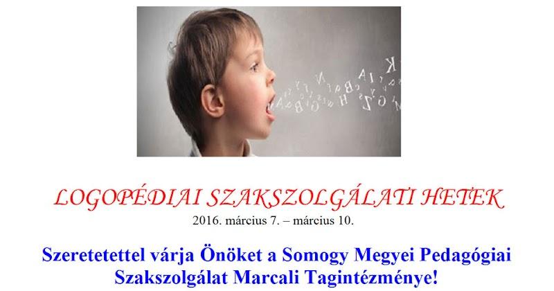 Logopédiai Szakszolgálati Hetek - Marcali 2016