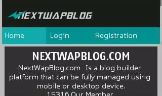 Tampilan Nextwapblog Lewat Hp