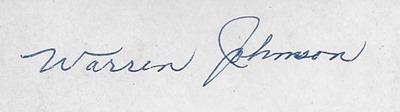 Warren Johnson DL ant back