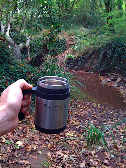Hot tea by the brook...