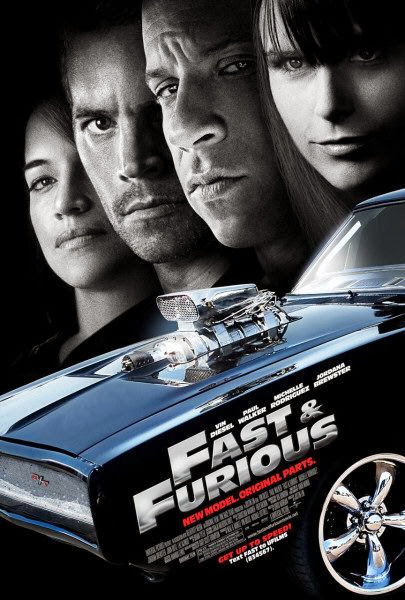 Poster Of Fast & Furious (2009) Full Movie Hindi Dubbed Free Download Watch Online At Alldownloads4u.Com