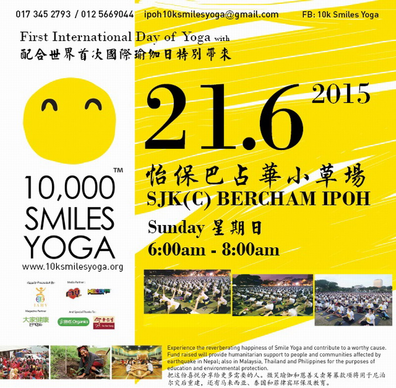 Announcement: 10,000 Smiles Yoga (Ipoh)