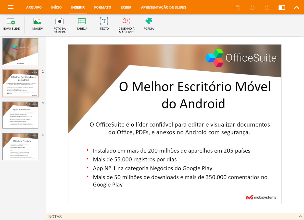 OfficeSuite + PDF Editor: captura de tela