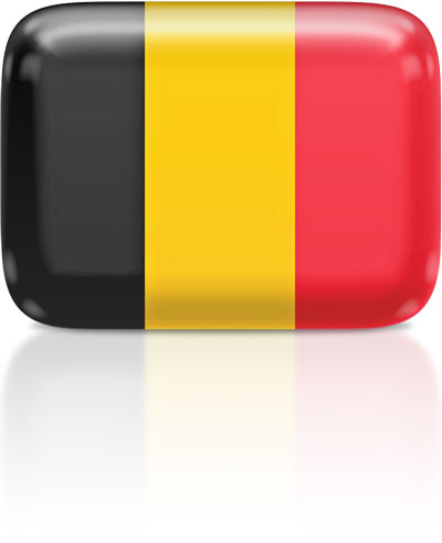 Belgian flag clipart rectangular