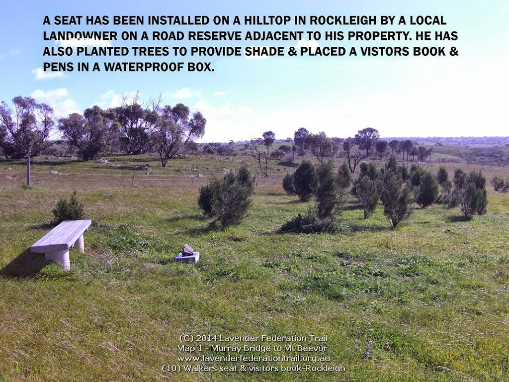 (10) Walkers seat & visitors book-Rockleigh