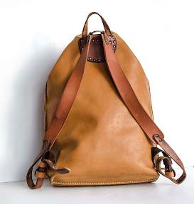 кожаный рюкзак ручной работы № 130 red star