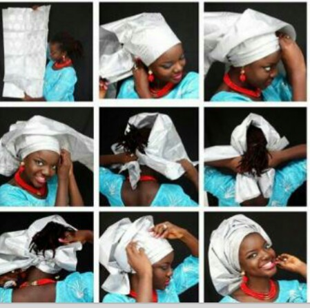 How to tie pleated gele in 9 easy steps