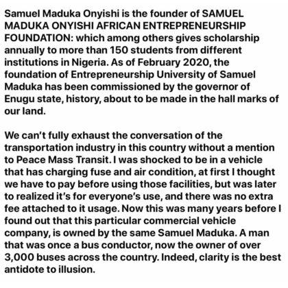 Chief Dr. Samuel Maduka Oyinshi.