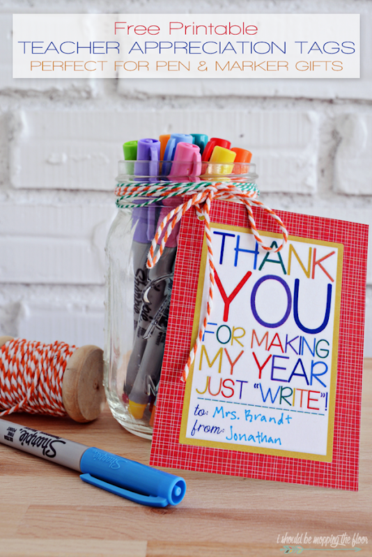 free teacher appreciation printable