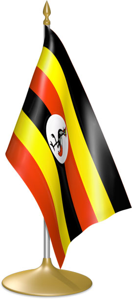 Ugandan table flags - desk flags