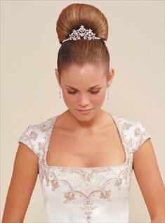 элегантная свадебная прическа