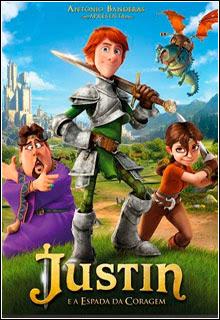 Justin e a Espada da Coragem DVD R Capa
