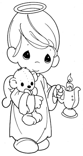 Quiet Book Boy Angel Take Away Candle And Put Sign With Jesus Love
