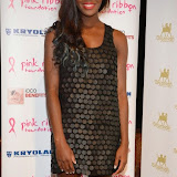 WWW.ENTSIMAGES.COM -     AJ Odudo   at      Filippo iOco's PINK London 2014 at Gilgamesh, The Stables Market, LondonSwiss body painter iOco throws official London launch party for Breast Cancer Awareness Month. The night is sponsored by Kryolan, and featues a fine art and body painting showcase, with all proceeds going to the Pink Ribbon Foundation.                                                Photo Mobis Photos/OIC 0203 174 1069