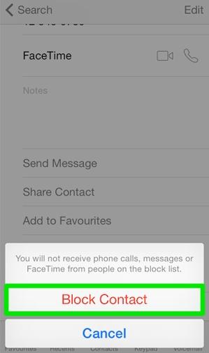 Hình 5 - Hướng dẫn cách chặn cuộc gọi, tin nhắn trên iPhone