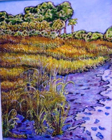 painting path to the beach Robin Baratta artist