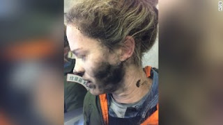 Woman's headphones explode while aboard a plane