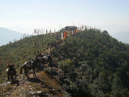 New Gompa at Okhaldunga built under guidance of Losang Namgyal Rinpoche, Nepal 2012. Photo courtesy of Losang Namgyal Rinpoche.