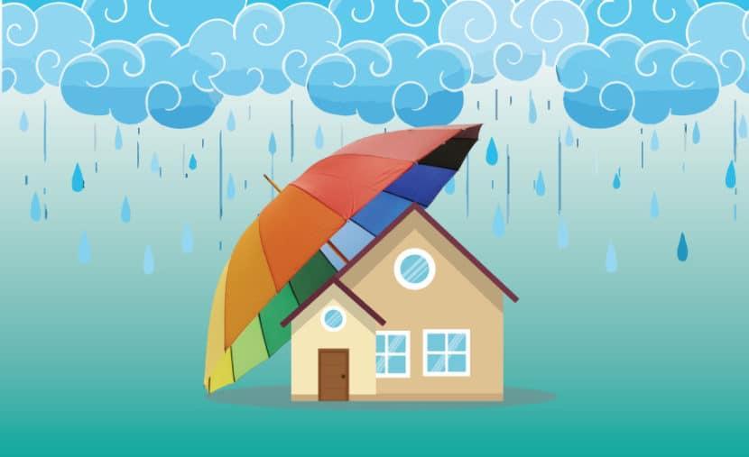 Độ dốc mái phù hợp với hướng nhà hạn chế tình trạng hắt mưa