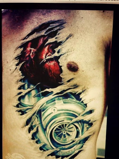 Realista coracao mecanico tatuagens desenhos sao muito famosos desenhos Isto e olhar impressionante no peito