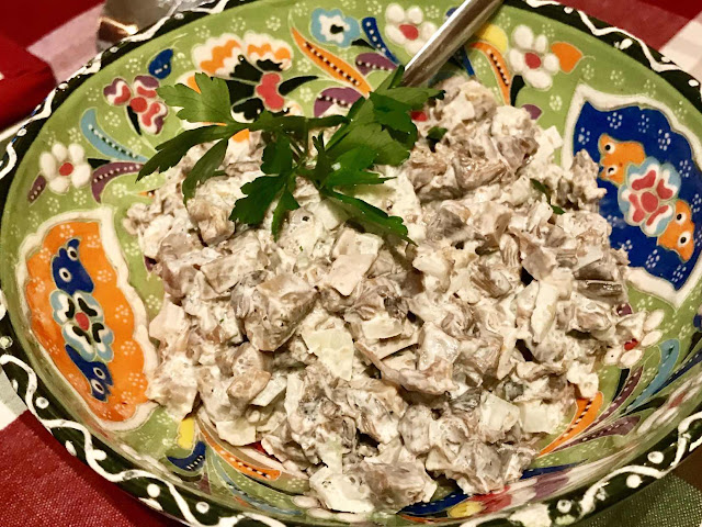 Traditional Finnish mushroom salad