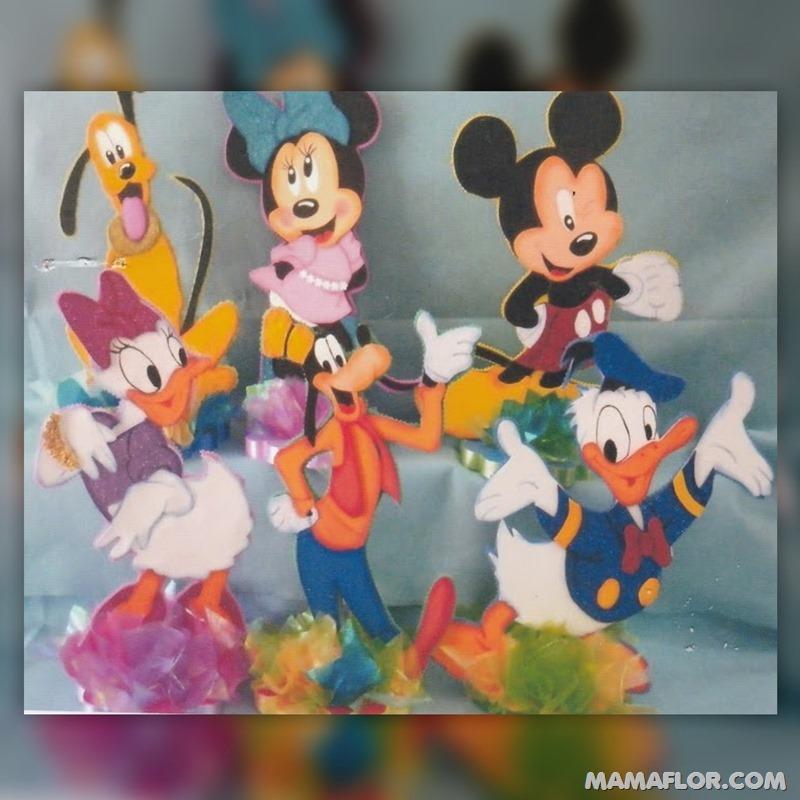 centro de mesa mickey y minnie mouse ---1